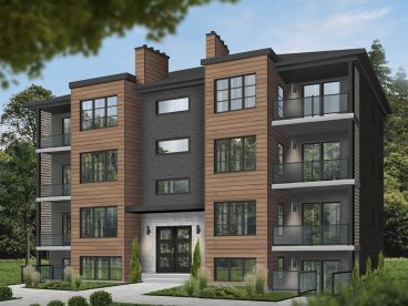 8-Unit Apartment Plan, 027M-0082