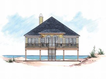 Beach Bungalow Home, 017H-0002