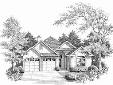Narrow Lot Home Plan, 004H-0045