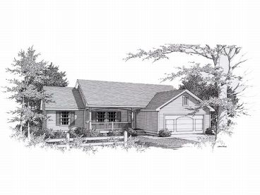 Ranch Home Plan, 018H-0004