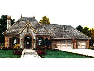 European Ranch Home, 002H-0110