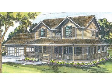 Country Home Plan, 051H-0009