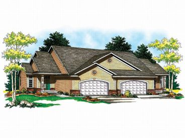 Duplex Home Plan, 020M-0028