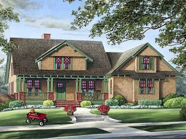 Craftsman House Plan, 063H-0013