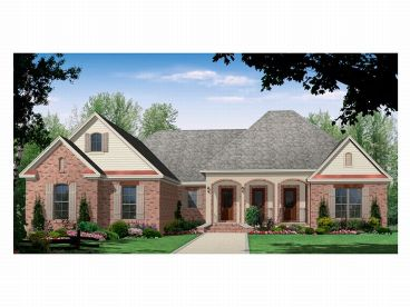 European House Plan, 001H-0097