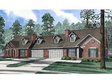 Duplex Home Plan, 025M-0076
