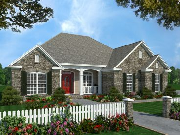 Ranch House Plan, 001H-0032