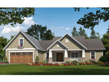 Craftsman Home Plan, 001H-0216