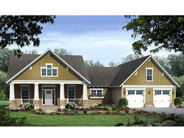 Arts & Crafts Home Plan, 001H-0170