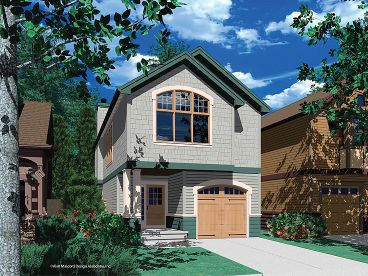Narrow Lot Home Plan, 034H-0097