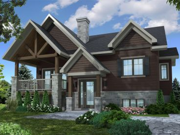 Split-Level House Plan, 027H-0483