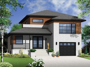 Narrow Lot House Plan, 027H-0298