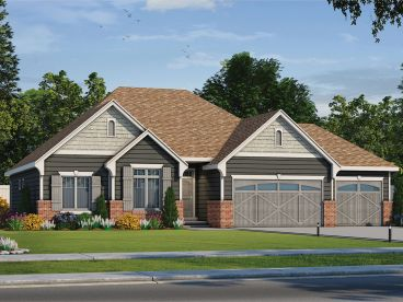 Ranch House Plans | Affordable Ranch Home Plan with 3-Car ... on colonial house plans with garage, ranch house plans with garage, split entry house plans with garage, split level house plans with garage,
