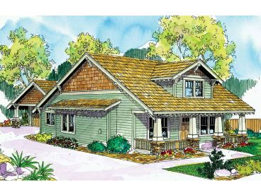 Arts & Crafts Home Plan, 051H-0143