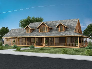 Country Home Plan, 012H-0076