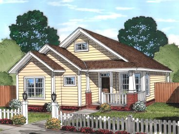 Narrow Lot House Plan, 059H-0190