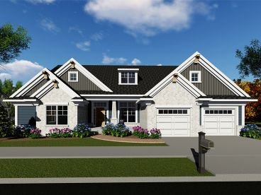 Craftsman House Plan, 020H-0443