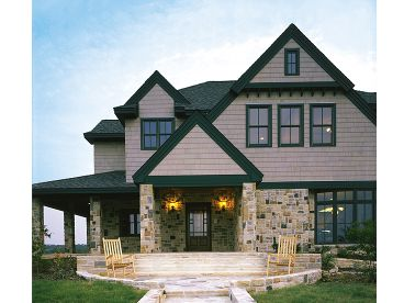 European House Plan, 054H-0140