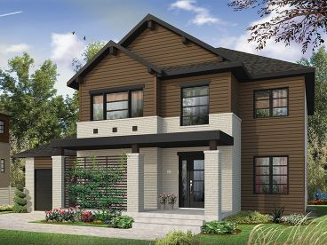 Two-Story House Plan, 027H-0445