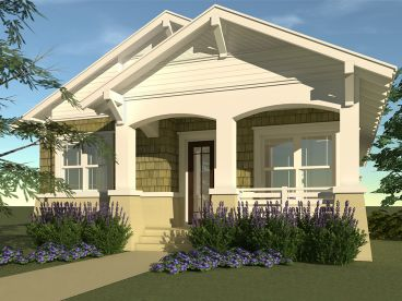 Bungalow House Plan, 052H-0038
