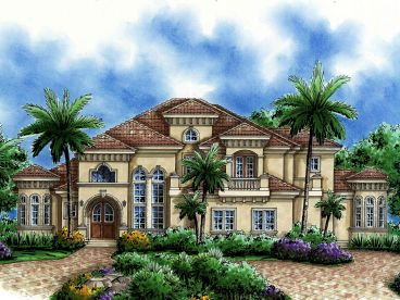 Mediterranean Home Plan, 037H-0158