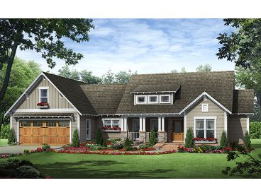 Craftsman Home Plan, 001H-0134