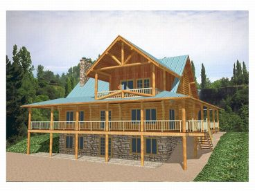Log House Design, 012L-0010