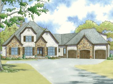 European House Plan, 074H-0040