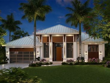 Modern Coastal House Plan, 037H-0236