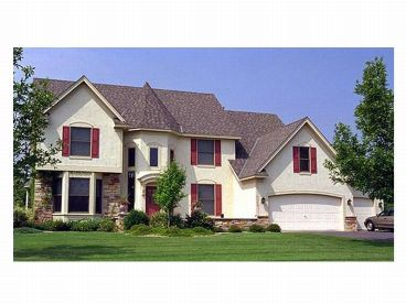 European House Plan, 023H-0026