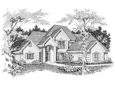 Two-Story Luxury Home, 061H-0108