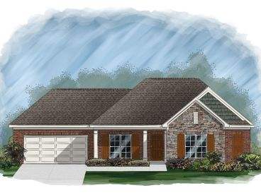 Ranch House Plan, 061H-0164