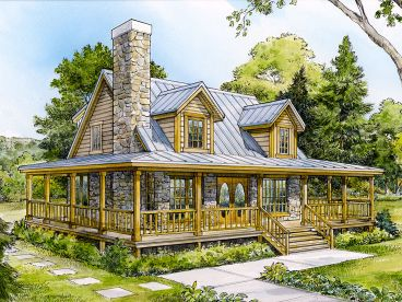 Mountain House Plan, 008H-0045