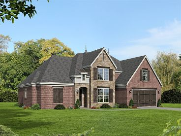 European House Plan, 062H-0109