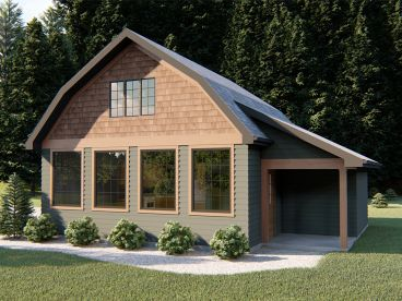Cabin House Plan, 050H-0160
