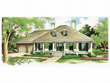 European House Plan, 021H-0088