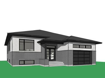 Modern Ranch House Plan, 027H-0431