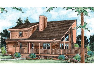 2-Story Log Home Plan, 031L-0002