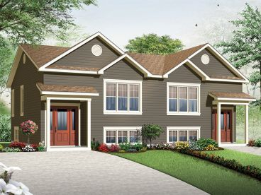 Duplex House Plan, 027M-0066
