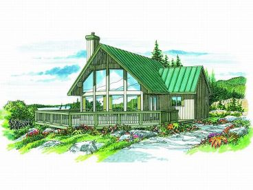 Waterfront Home Plan, 032H-0051