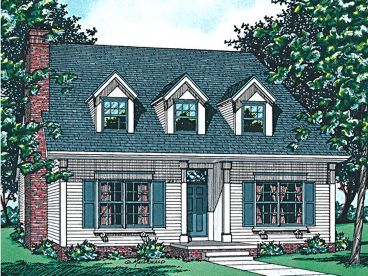 Cape Cod Home Plan, 031H-0101