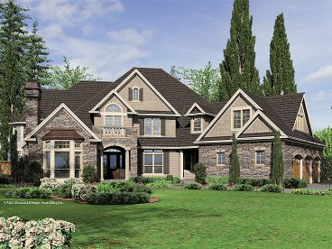 Euroepan House Plan, 034H-0154