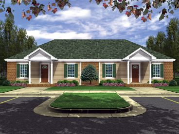 Duplex Home Plan, 001M-0007
