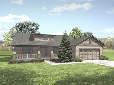 Bungalow House Plan, 016H-0061