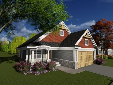 Narrow Lot House Plan, 020H-0389
