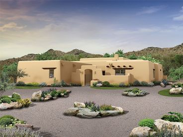 Adobe House Plan, 057H-0039