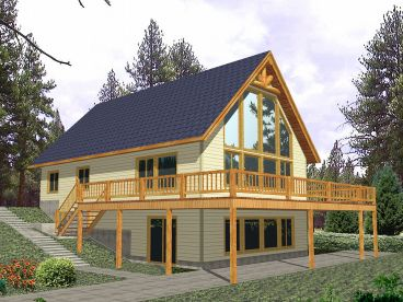 Waterfront Home Plan, 012H-0083