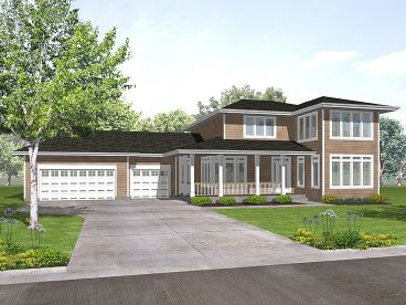 Contemporary Home Plan, 016H-0028