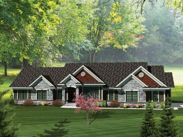 Tradtitional House Plan, 020H-0281