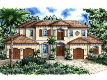 Premier Luxury Home Plan, 040H-0070